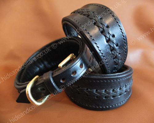 Braided whippet collar