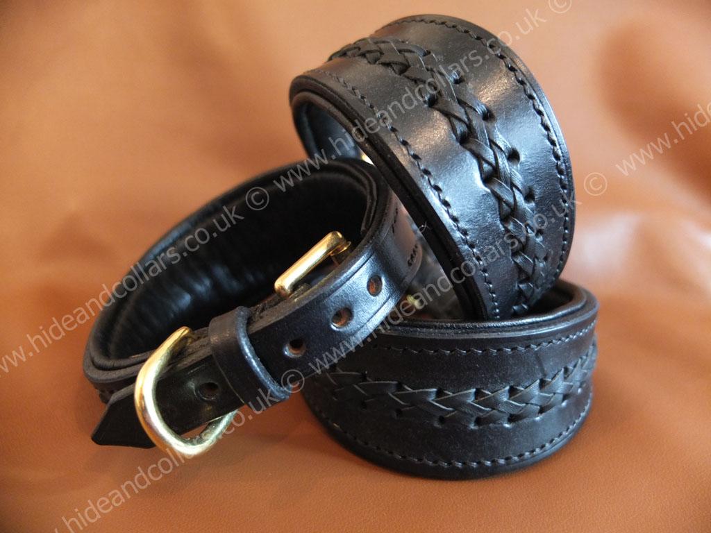 Braided whippet collar