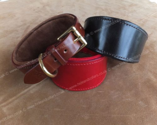 greyhound collar lined and padded