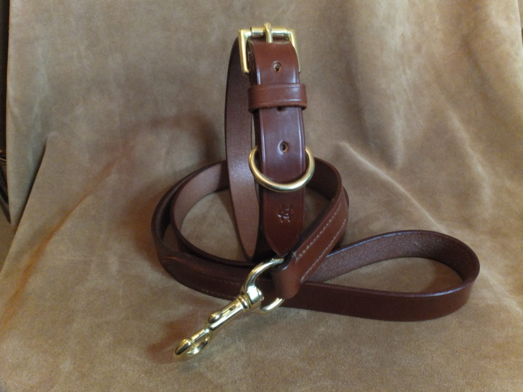 Leather Show Leads For Large Dogs