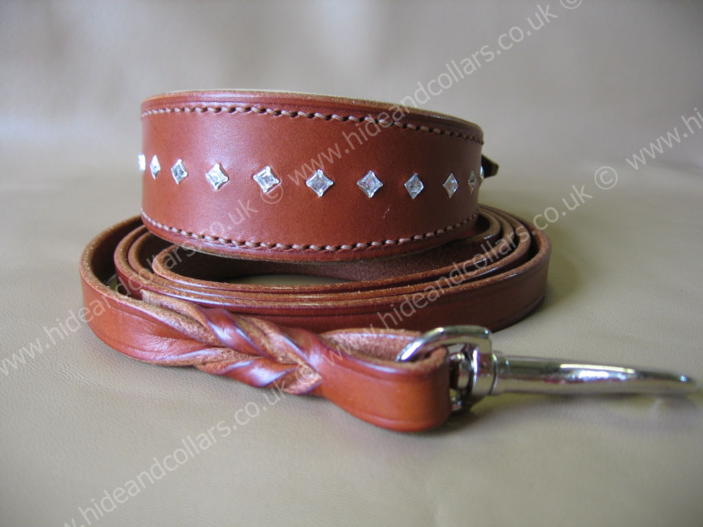 whippet collar with square swarovski crystals