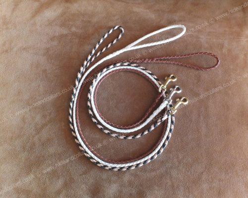 braided kangaroo leather lead