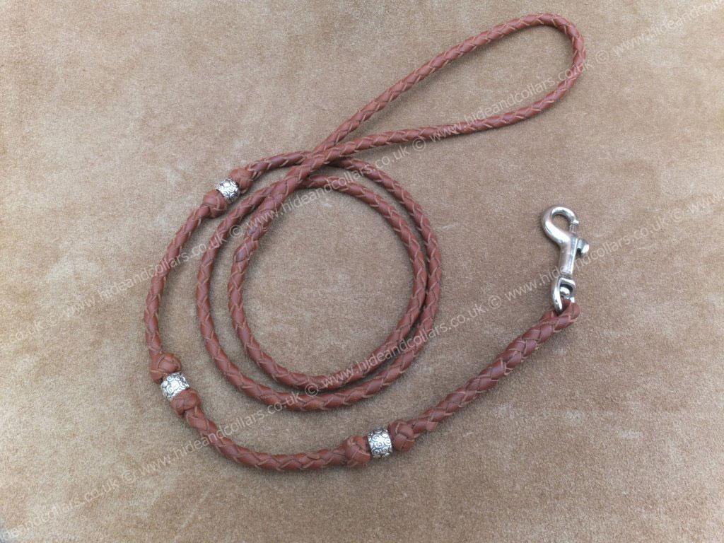braided kangaroo lead with beads
