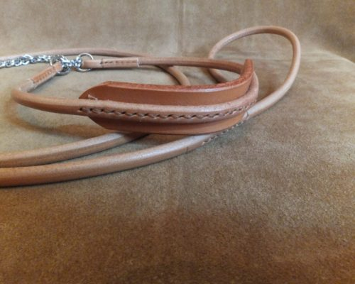 round leather show set with comfort neck
