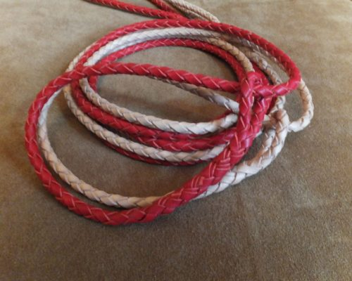 braided kangaroo leather slip lead