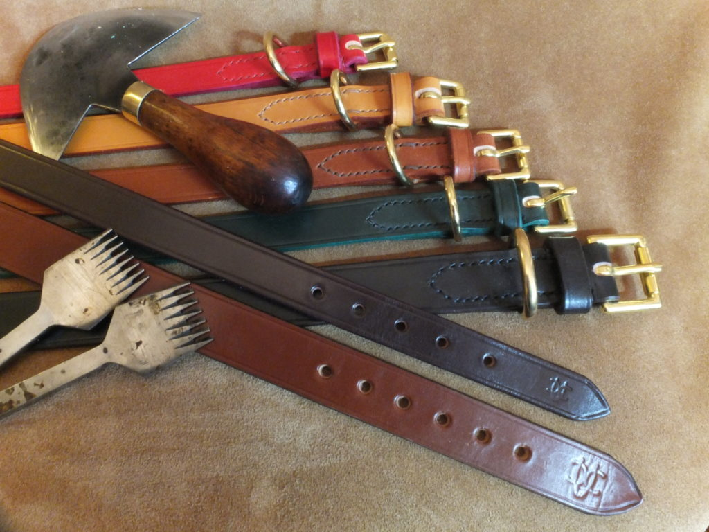 leather dog collar traditional