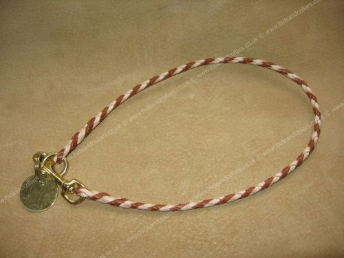 Braided kangaroo leather ID collar.