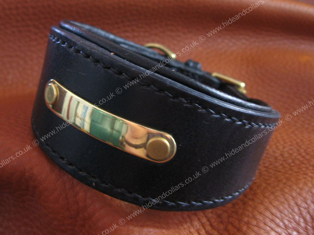 Leather Dog Collars With Name Plate Uk