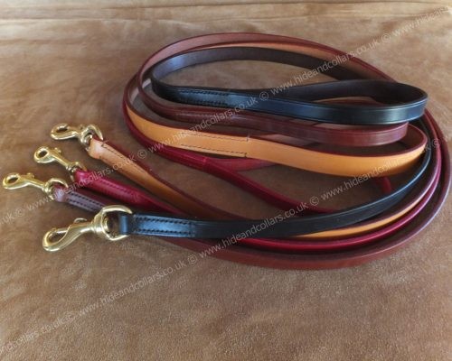 leather dog leads 122cm