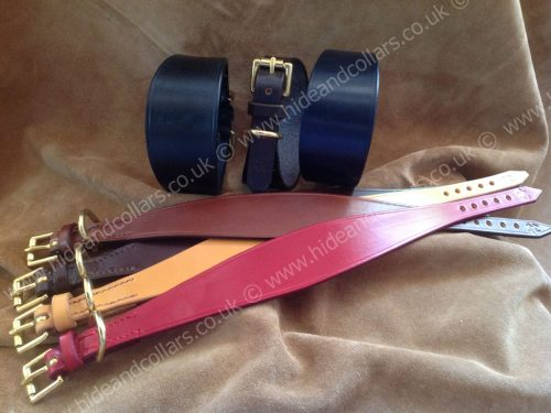 wide leather whippet collar