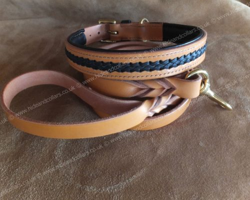 laced leather collar