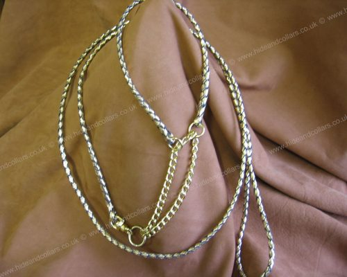 braided kangaroo leather show set