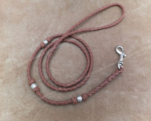 braided kangaroo lead with beads
