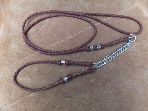 braided kangaroo leather beaded show set