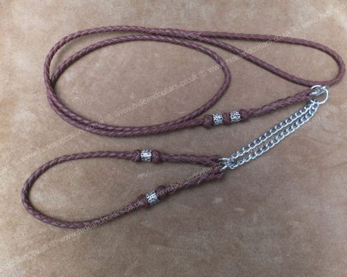 braided kangaroo leather beaded show set
