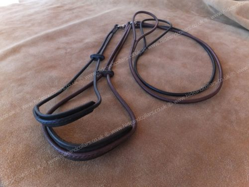 round leather show slide with comfort neck